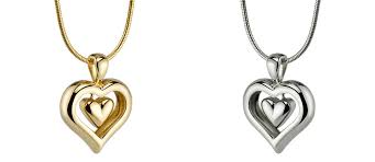 affordable heart pendant cremation jewelry for ashes