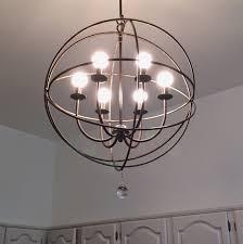 foucaults orb crystal chandelier extra large restoration hardware
