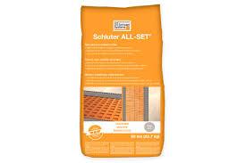Formato Au 12 Schluter All Set Setting Materials Schluter Com