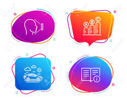 Graph Chart Car Travel And Face Id Icons Simple Set Technical