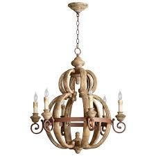 atocha six light chandelier