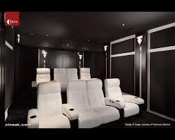 modern home theater. cineak white fortuny seats in home theater modern-home-theater modern r