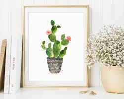 cactus printable cactus wall art botanical print tropical wall art cactus poster watercolor cactus art pink  on wall art printing ideas with wall art top 10 amazing sample ideas cactus wall art cactus yard