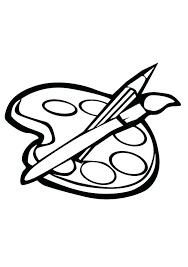 Paint Brush Coloring Page Paint Brush Coloring Page Paint Brush