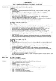 Business Technical Analyst Resume Samples Velvet Jobs