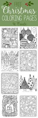 Free Christmas Adult Coloring Pages U