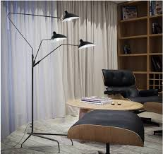 three arm floor lamp standing lamp office reion of serge mouille 210cm