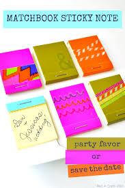 matchbook sticky note favor or save the date mad in crafts