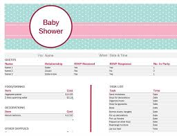 baby shower spreadsheet baby shower planner