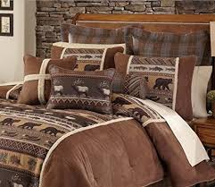 rustic king size comforter sets. Fine Sets 4 Piece Rustic Wildlife Inspired Theme Comforter Set Cal King Size  Featuring Deer Bear Fish To Size Sets C