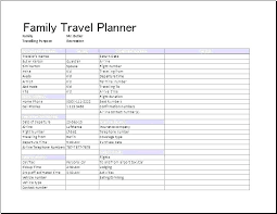 Holiday Planner Template Free Travel Planner Template Affordacart Com
