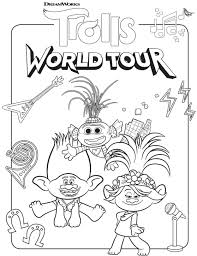 351 x 800 file type: Free Trolls World Tour Coloring Pages And Printable Activities