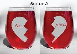Best Dishwasher For Wine Glasses Deep Engraved Dishwasher Safe Set Of Two Best Friends Broken