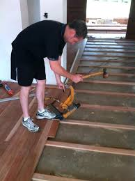 how to install hardwood flooring over concrete installing wooden floors on floating slab floor without glue