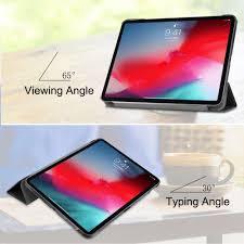 Design Your Own Ipad Case Just In Case Apple Ipad Pro 11 2018 Smart Tri Fold Case Black