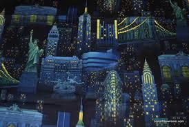 Q82 New York City at Night Empire State Building Statue of Liberty ... & Q82 New York City at Night Empire State Building Statue of Liberty Brooklyn  Bridge Cotton Fabric Quilt Fabric Adamdwight.com