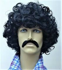 Image result for black curley hair mustache