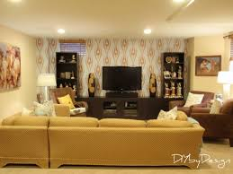 2 contrasting darks bright basement work space decorating