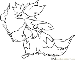Small Picture Delphox Pokemon Coloring Page Free Pokmon Coloring Pages
