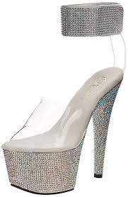 Pleaser Adore 708 Lg Pleaser Bejeweled 712rs Womens
