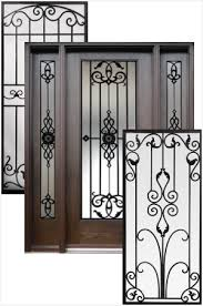 wrought iron front doors inserts