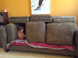 Sofa Fort love this except the fact that the kid is playing on a
