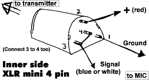 audio engineering shure xls mini 4 pin xlr ta4f connector