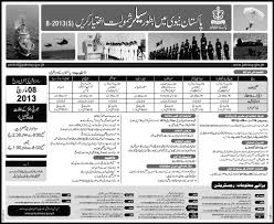 New Jobs Pakistan Navy New Jobs Opening For 17th February 2013