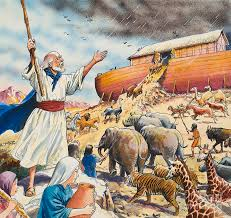 noah painting biblical scene noahs ark by english school
