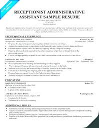 Resume Example For Administrative Assistant