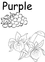 Preschool Printables | PreSchool Worksheet - Colors: Purple ...