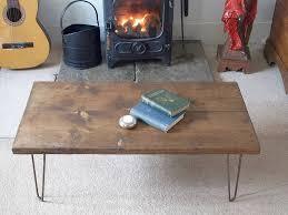 reclaimed scaffold board hairpin leg coffee table