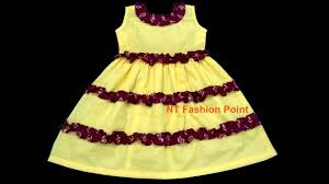 Baby Dress Frock Design Simple Summer Dress Design For Baby Girls Cutting Stitching