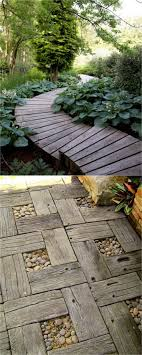 wood garden paths