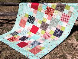 Learn how to make this sweet Layer Cake Checkmate quilt with our ... & Learn how to make this sweet Layer Cake Checkmate quilt with our video  tutorial! Adamdwight.com