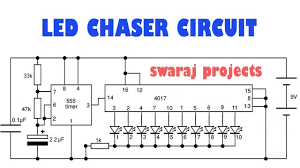 how to make led chaser circuit running lights chaser ic cd 4017 Light Switch Wiring Diagram at 4017 Wiring Diagram