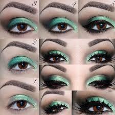 green eye makeup fopr dark brown eyes