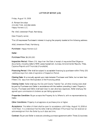 Letter Of Intent Real Estate Intent To Purchase Agreement Real Estate Images Agreement Cover 2