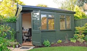 garden sheds office. simple sheds back garden shed converted into an office in sheds f