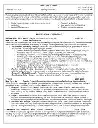 social media resume sample job and resume template social media resume objective social media marketing