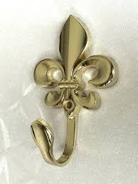 fleur de lis wall decor vintage inspired wall hooks metal wall cor cottage chic gold curtain tie backs french country coat hangers in hooks from home
