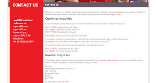 Telephone Number For Address Ladbrokes Customer Service Contact Number Helpline 0843 837 5483