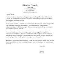 Sample Legal Assistant Cover Letter The Letter Sample