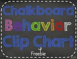 Davis Clip Chart Chalk It Up To Great Behavior Clip Chart Freebie
