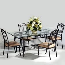 dining room sets from iron dining table set with rectangular glass tabletop combine with black