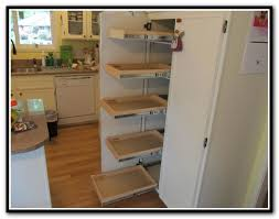 kitchen cabinet pull out shelves home depot