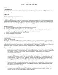 Good Objectives In A Resume A Good Objective For A Resume Sample