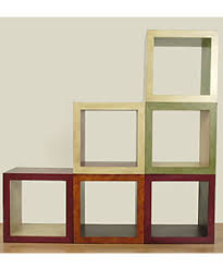 stacking cubes furniture. Hand-painted Wooden Stacking Cube | Overstock.com Shopping - Great Deals On Coffee Cubes Furniture S