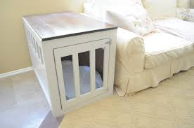 ana white dog crate end table diy projects build your own oak bench seat black metal