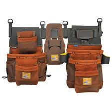 leather tool belt. 12-pocket elite series pro framer\u0027s leather tool belt with right y